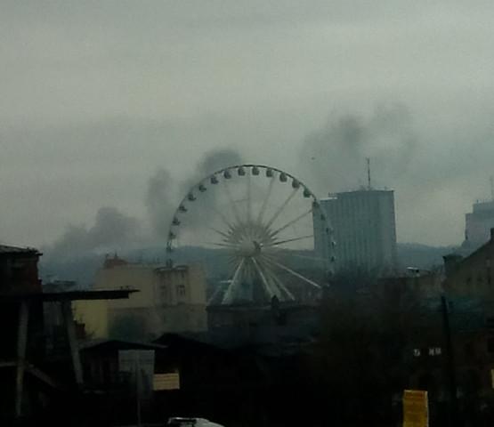 Pożar przy ul. Kolonia Ochota w Gdańsku