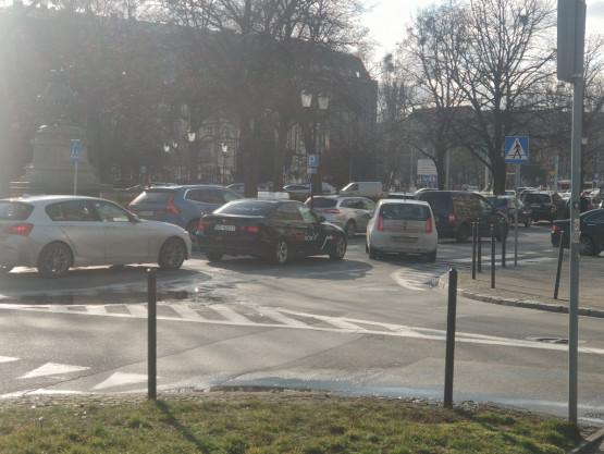 Stłuczka na Targu Drzewnym w Gdańsku
