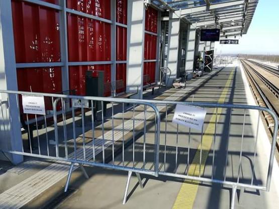 Prace remontowe na przystanku PKM Port Lotniczy