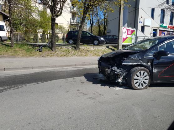 Wypadek na alei Zwycięstwa w stronę Gdyni