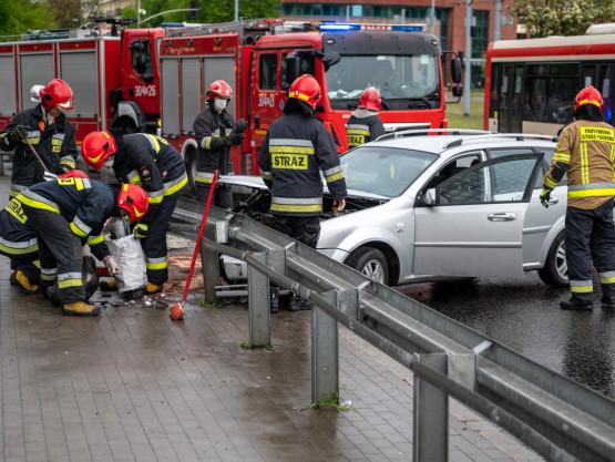 Skutki wypadku przy Zieleniaku w Gdańsku