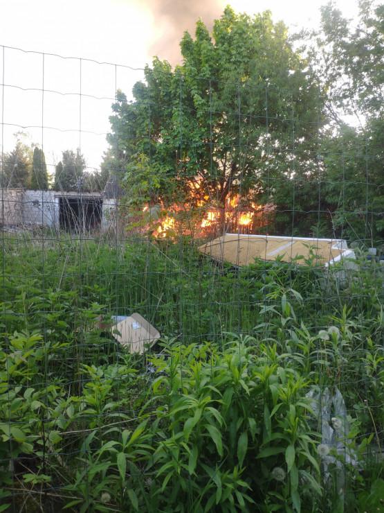 Pożar pustostanu na Ujeścisku