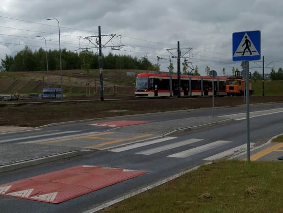 Testy nowej linii tramwajowej wykonywane przez tramwaj Pesa Jazz Duo