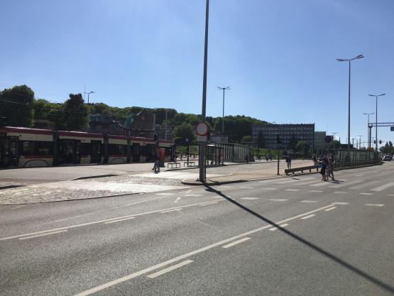 Awaria tramwaju na skrzyżowaniu Armii Krajowej i 3 Maja