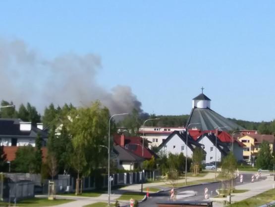 Pożar w Osowej obok parku Chirona