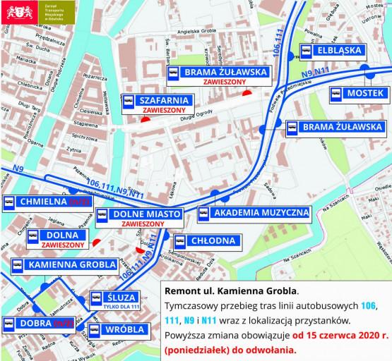 Zmiany w komunikacji miejskiej w Gdańsku
