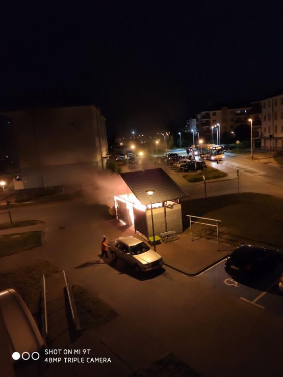 Podpalenie wiaty śmietnikowej, Gdańsk, Srebrna
