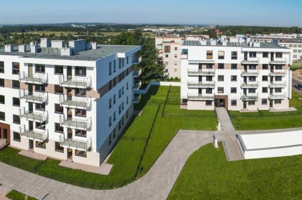 Dwa pierwsze, oddane w połowie 2012 roku, budynki osiedla.