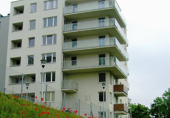 Mieszkańcy mają widok na panoramę miasta i Żuław.