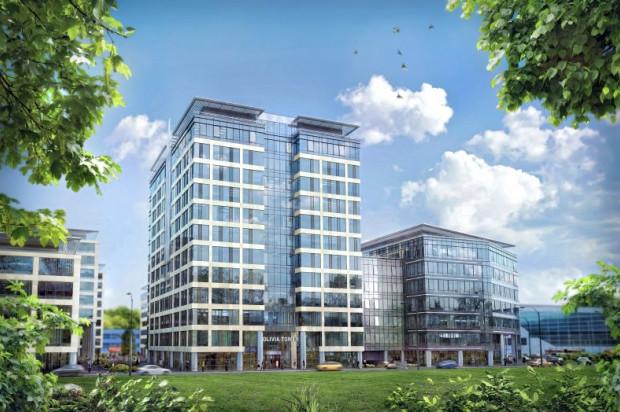 Olivia Tower i na prawo Olivia Point. Po lewej Olivia Four (planowana pierwotnie na 6 pięter.