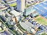 Pierwszy koncepcyjny szkic przyszłej zabudowy przygotowany przez dewelopera jeszcze przed ogłoszeniem konkursu.