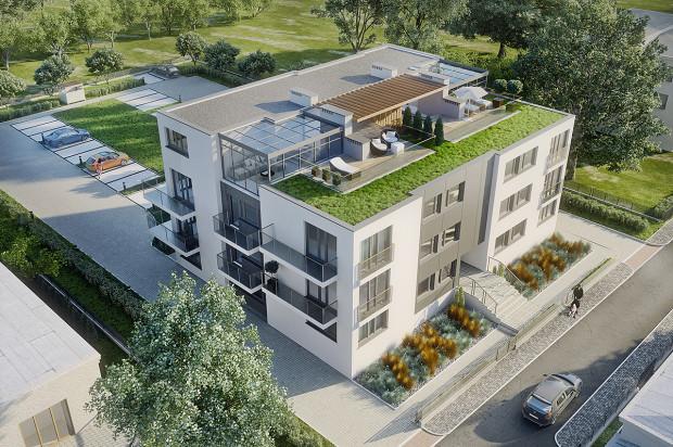 Na dachu budynku możliwe jest zaaranżowanie tarasów przynależnych do mieszkań na najwyżej kondygnacji.