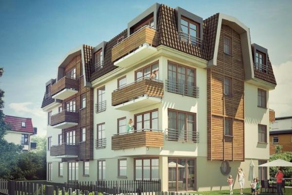 Kamieniczka Szafirowa. Architektura powstających budynków nawiązuje do wyglądu kamienic znajdujących się w bezpośrednim sąsiedztwie, a także do stylu typowo sopockich kamienic.