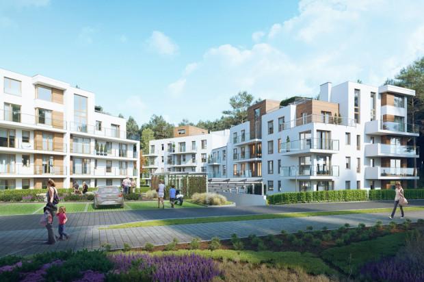 Budynki osiedla z wszystkich stron otoczone będą lasem.