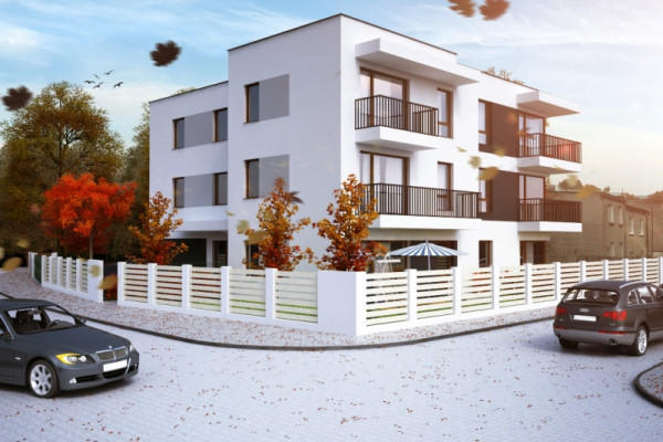 Budynek ze swoją architekturą w stylu miejskiej willi będzie komponował się z otaczającą go zabudową.