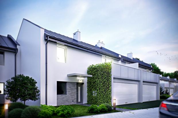 Niewielkie domy w zabudowie szeregowej stworzą kameralne osiedle w rozbudowanej dzielnicy.