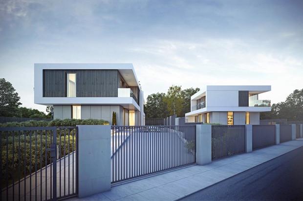 Dom wolnostojący i bliźniak staną na wspólnym ogrodzonym terenie.