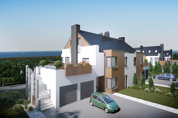 W ramach inwestycji powstają budynki czterorodzinne o rzadko spotykanej architekturze.