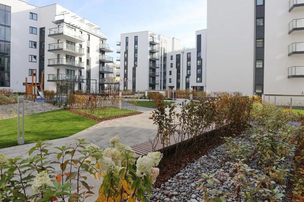 Pierwsze trzy budynki osiedla zostały oddane do użytkowania w 2017 roku.