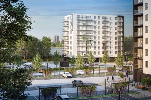 Budynek trzeciego etapu inwestycji będzie miał dziewięć kondygnacji.