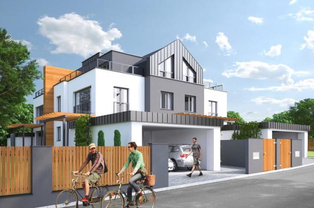 Budynek z zewnątrz wygląda jak wielorodzinny, w istocie znajdują się w nim cztery domy jednorodzinne.