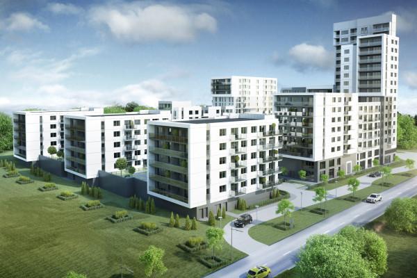 Prima Reda docelowo będzie kompleksem kilku budynków z jednym budynkiem wysokim.