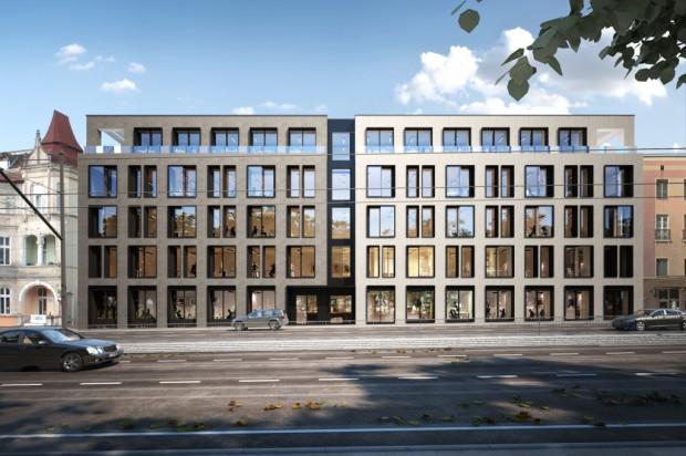 Elewacja budynku od strony al. Grunwaldzkiej.