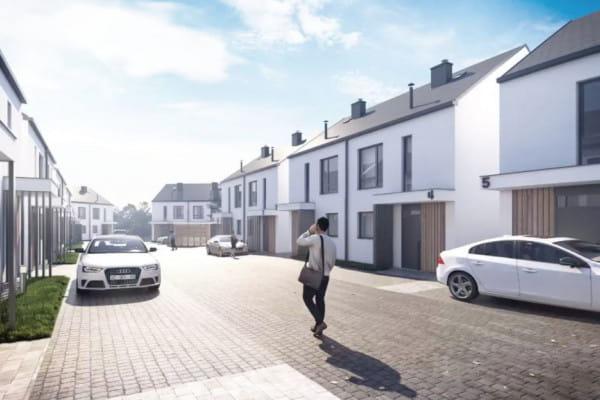 Pomiędzy budynkami powstanie osiedlowa uliczka, całość będzie miała charakter kameralnego podmiejskiego osiedla.
