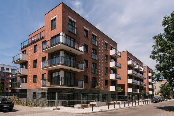 Inwestycję tworzą dwa, dwusegmentowe budynki.