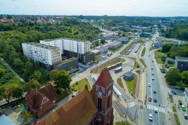 Osiedle Traffic będzie doskonale skomunikowane - powstaje w bezpośrednim sąsiedztwie pętli na Siedlcach.