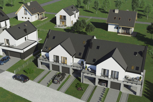 Na jednym terenie powstają budynki o różnych rozkładach, ale spójnej architekturze.