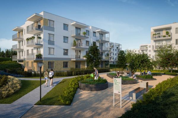 W ramach inwestycji powstaną także zielone przestrzenie wspólne, o które dbać będą mogli sami mieszkańcy.