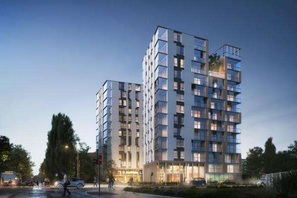 Konkursowy projekt koncepcyjny budynku przy Jagiellońskiej 13.