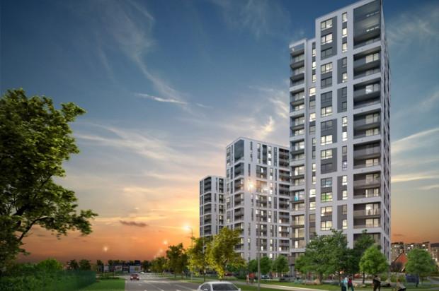 Duże przeszklenia sprawią, że mieszkania będą doskonale doświetlone, a z części nich widać będzie zatokę.
