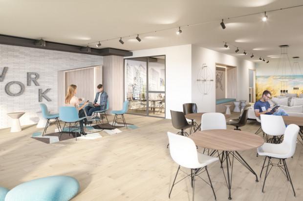 Planowane przestrzenie wspólne - przestrzeń coworkingowa.