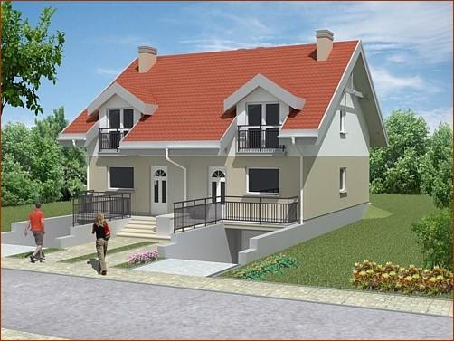 Dom pod Miłorzębem ma trzy kondygnacje. Piwnica ma być w całości użytkowa.