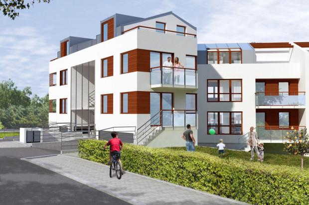 Budynki będą miały trzy kondygnacje nadziemne. Górne zagospodarowane zostaną jako mieszkania dwupoziomowe.