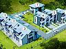 Osiedle Aksamitne to dwa nieduże szeregi domów oraz wolnostojąca willa.