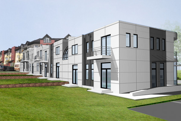 Merkator II powstaje w pobliżu rozwiniętego osiedla mieszkaniowego.