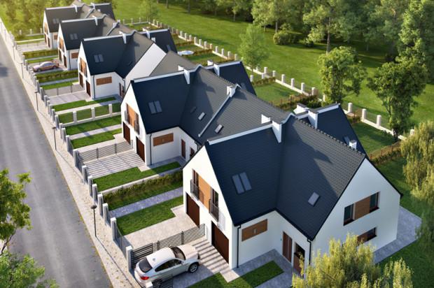 Bursztynowy Zakątek to docelowo dziesięć domów z garażami i własnymi ogrodami.