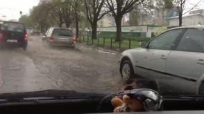 Gdańsk, ul.Chłopska po deszczu