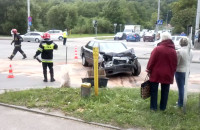 Wypadek w Gdyni - utrudnienia na ul. Morskiej