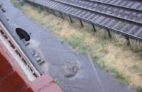 Woda wybiją ze studzienki - Jana z Kolna po deszczu