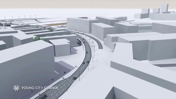 Wizualizacja budowanego pierwszego etapu ul. Nowej Wałowej.