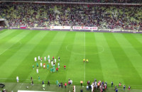 Koniec meczu Lechia - Barcelona