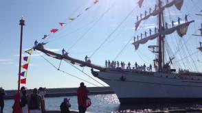 Cuauhtemoc wpływa do Gdyni