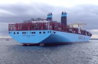 Kontenerowiec na Zatoce Gdańskiej, widziany z holownika Ares