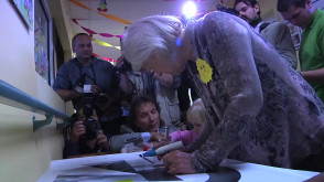 Filmowcy odwiedzili dzieci w gdyńskim szpitalu