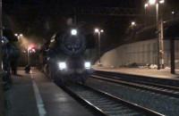 Dwa parowozy przyciągnęły pociąg specjalny