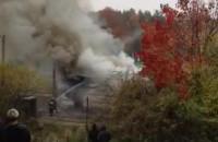 Pożar w Gdyni na Witominie